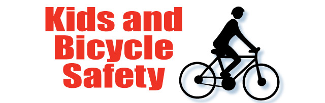 kids and bicycle safety - bicycle icon
