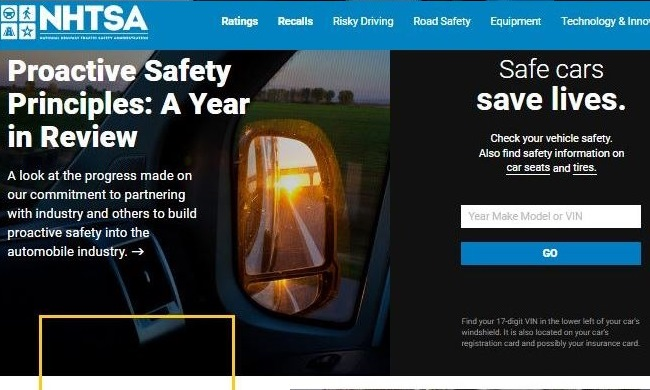 New nhtsa.gov site provides new vehicle and road safety features for consumers